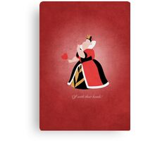 Alice in Wonderland inspired design (Queen of Hearts). Canvas Print