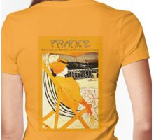 Century old French Transatlantic Steamship advert travel poster Womens Fitted T-Shirt