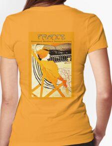 Century old French Transatlantic Steamship advert travel poster T-Shirt