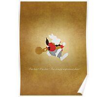 Alice in Wonderland inspired design (White Rabbit). Poster