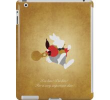Alice in Wonderland inspired design (White Rabbit). iPad Case/Skin