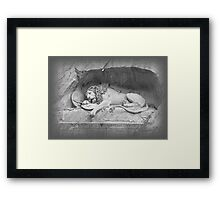 Dying Lion of Lucerne - Löwendenkmal (2) Framed Print