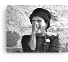 Laughing Mime (B&W) Canvas Print