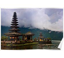 Lake Temple Bali Poster
