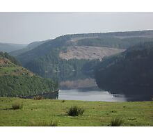 A lake in the Welsh hills Photographic Print