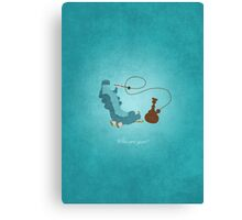 Alice in Wonderland inspired design (Caterpillar). Canvas Print