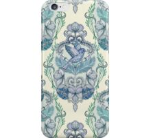 Not Even a Sparrow - hand drawn vintage bird illustration pattern iPhone Case/Skin