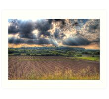 A Beautiful End to a Beautiful Day-2 Art Print