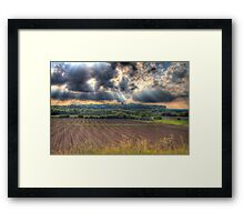 A Beautiful End to a Beautiful Day-2 Framed Print