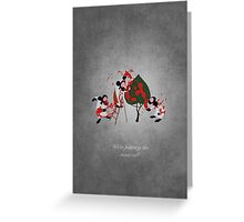Alice in Wonderland inspired design (Playing Cards). Greeting Card