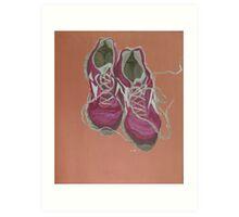 Running in the desert Art Print