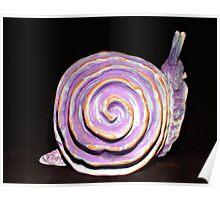 Snail Post Sitter Copper Glaze Carcoar Poster
