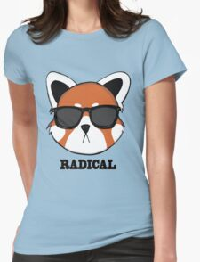 Radical Red Panda Womens Fitted T-Shirt