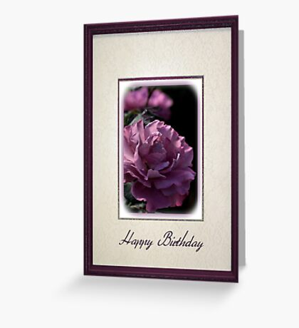 Happy Birthday - Mauve Rose Greeting Card