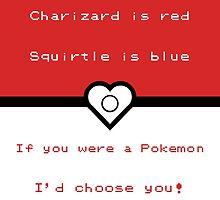 Pokemon inspired valentine. by topshelf