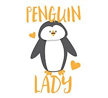 Penguin Lady Photographic Print