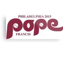 Pope Retro Phillies Mash-Up Metal Print