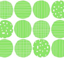Lime green circles by Morag Anderson