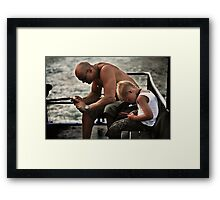 Like Father.....  (The Ferry - Candid #1) Framed Print