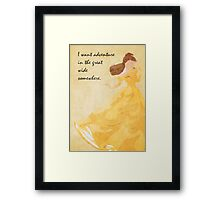 Beauty and the Beast inspired design. Framed Print