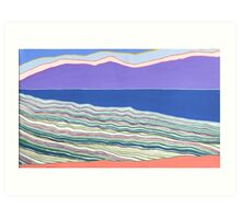 Scrub, Sea, Ranges Art Print
