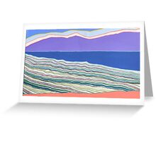 Scrub, Sea, Ranges Greeting Card