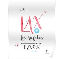 LAX  airport code LOS ANGELES Poster