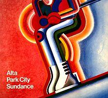 Salt Lake City Vintage Travel Poster by Carsten Reisinger