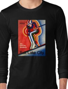 Salt Lake City Vintage Travel Poster Long Sleeve T-Shirt