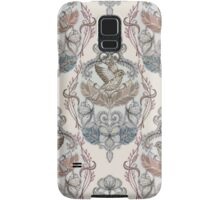 Woodland Birds - hand drawn vintage illustration pattern in neutral colors Samsung Galaxy Case/Skin