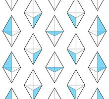 Blue Tetrahedrons  by Louiology