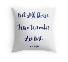 J.R.R. Tolkien quote Throw Pillow