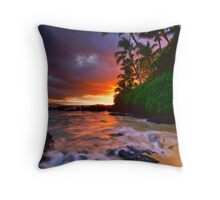 Pa'ako Beach Gold Throw Pillow