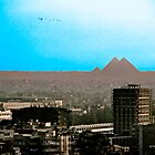 Giza Plateau from Central Cairo by David's Photoshop