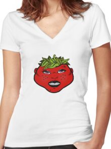 Mrs Berry Women's Fitted V-Neck T-Shirt