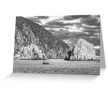 Travel between the rocks Greeting Card