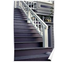 Purple Stairs With Picture Window Poster