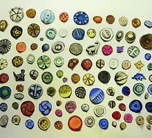 i collect things,namely i collect buttons by casey diamond