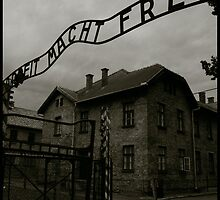 Auschwitz I Main Gate by Peter Harpley