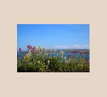 Sea And Flowers At North Cornwall Unisex T-Shirt