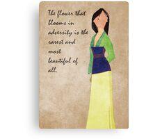 Mulan inspired design. Canvas Print