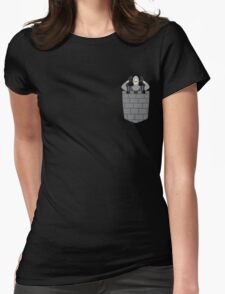 Monty Python French Taunting Guard Womens Fitted T-Shirt