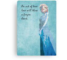Frozen inspired design (Elsa). Canvas Print