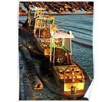 Tugboats on the Fraser River, Vancouver Poster