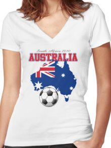 australia world cup Women's Fitted V-Neck T-Shirt