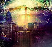 Abstract City Scape by Jacqui Frank
