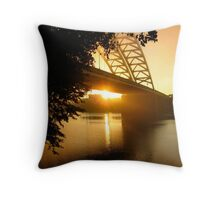 Sun Rise Under the Big Mac Throw Pillow