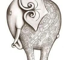 Engraved Elephant (Charcoal) by FineEtch