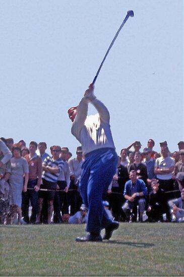 Golfing Legends: Jack Nicklaus - Australian Golf Open, The Lakes, Sydney, 1964 by Adrian Paul