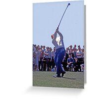 Golfing Legends: Jack Nicklaus - Australian Golf Open, The Lakes, Sydney, 1964 Greeting Card